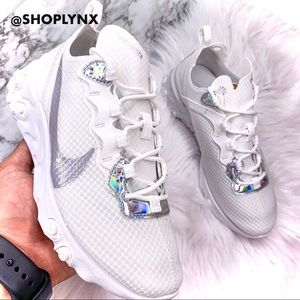 Nike React Element 55 White Holographic